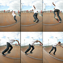 Miguel Urbina, BS Tailslide to Fakie sequence - Photo: Estefano Munar