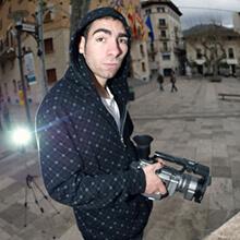 Pelayo Ruiz grabando - Foto: Estefano Munar
