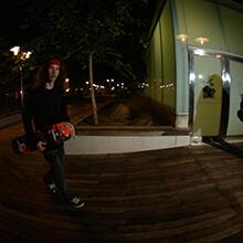 Ian Waelder de noche - Foto: Estefano Munar