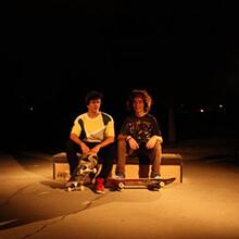 Benjamín Thompson e Ian Waelder en el cajón - Foto: Unknown